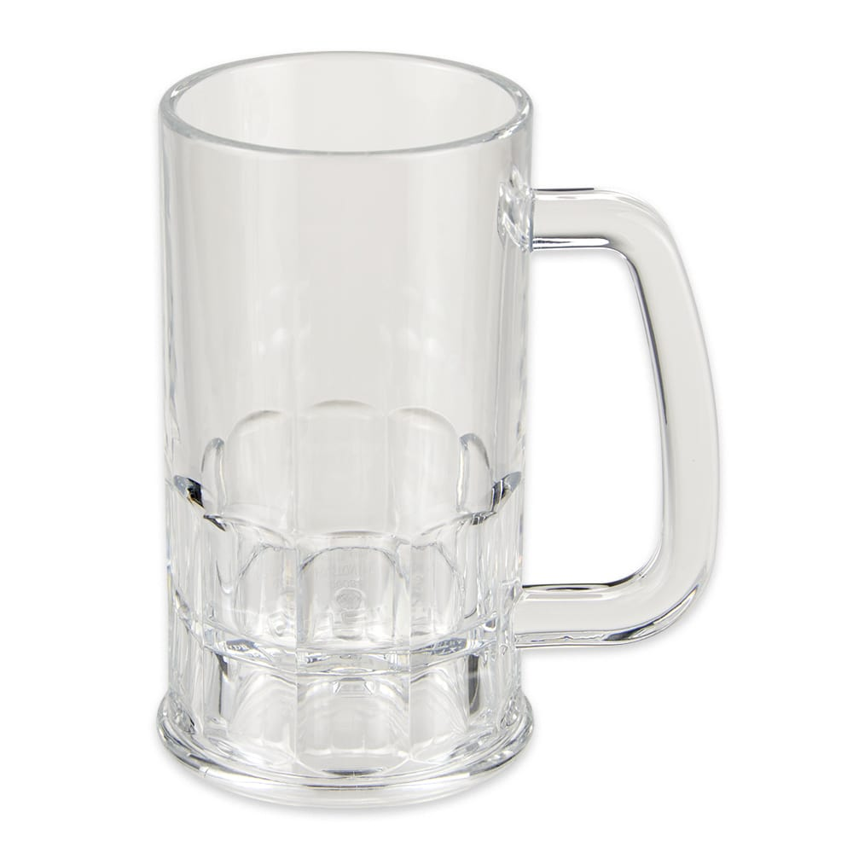 GET 00084-1-SAN-CL 12-oz Beer Mug, SAN Plastic, Clear