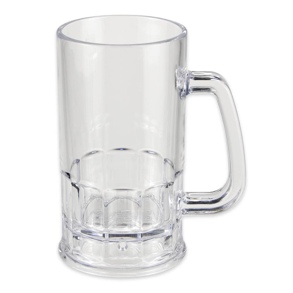 GET 00085-1-SAN-CL 20-oz Beer Mug, SAN Plastic, Clear
