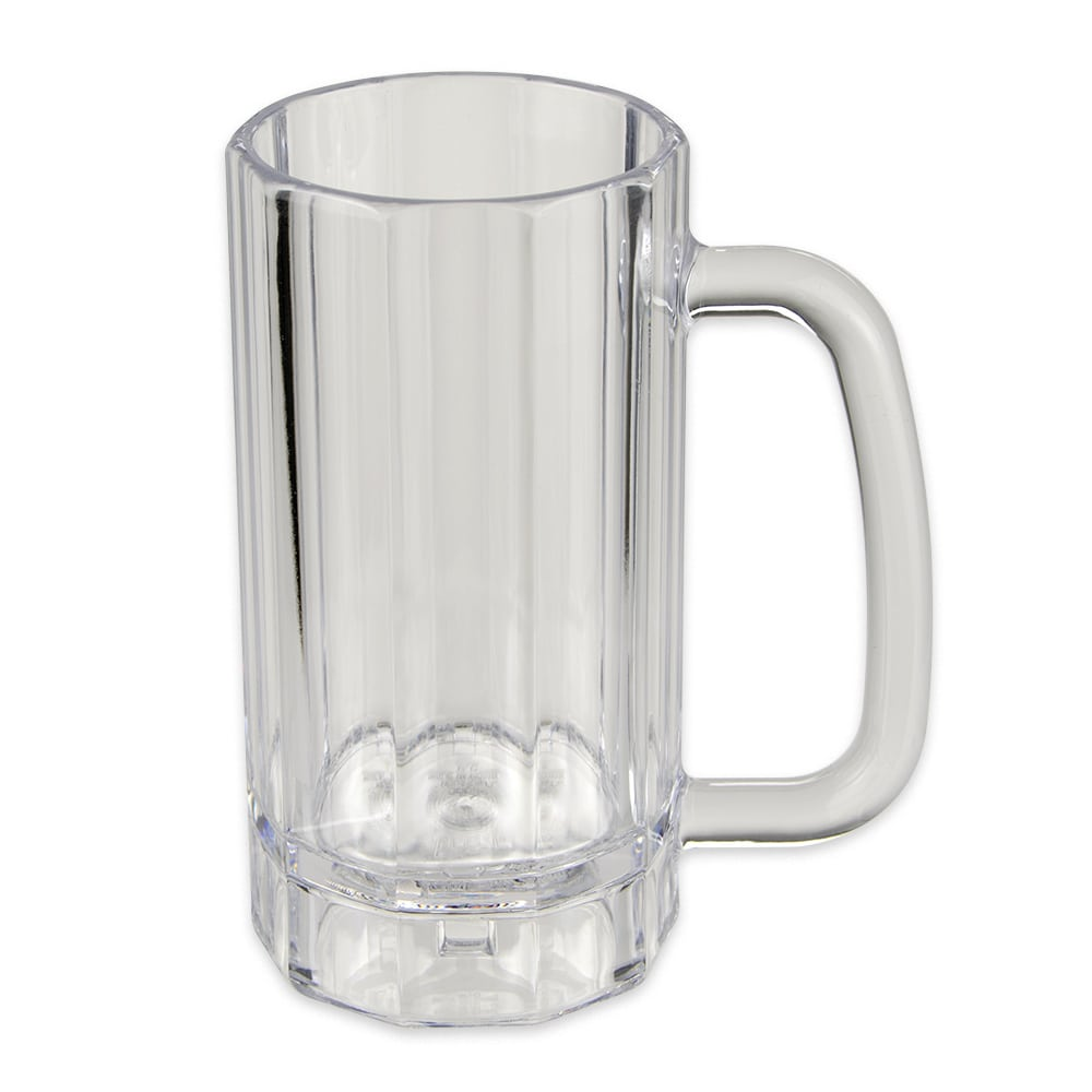 GET 00086-1-SAN-CL 16-oz Beer Mug, SAN Plastic, Clear