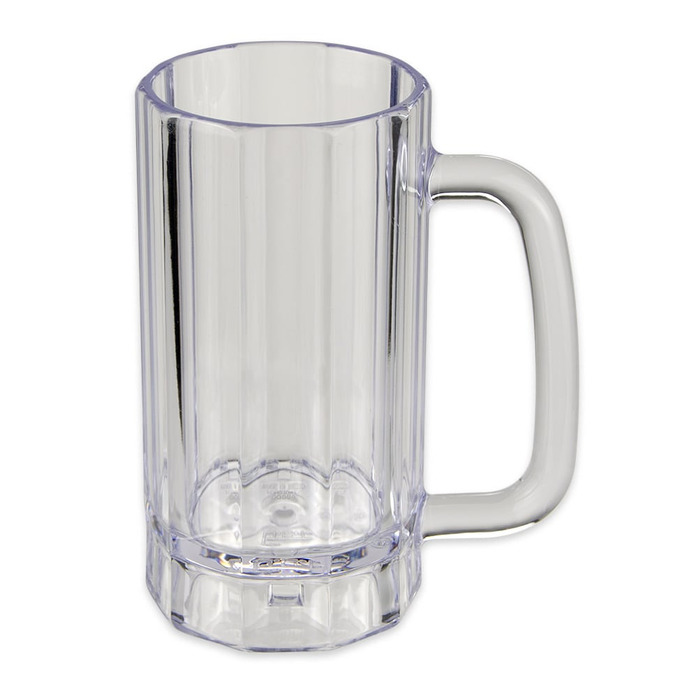 "GET 00086-PC-CL 6.25"" Plastic Beer Mug w/ 16-oz Capacity"