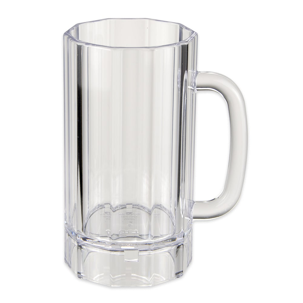 GET 00087-PC-CL 20-oz Beer Mug, Polycarbonate, Clear