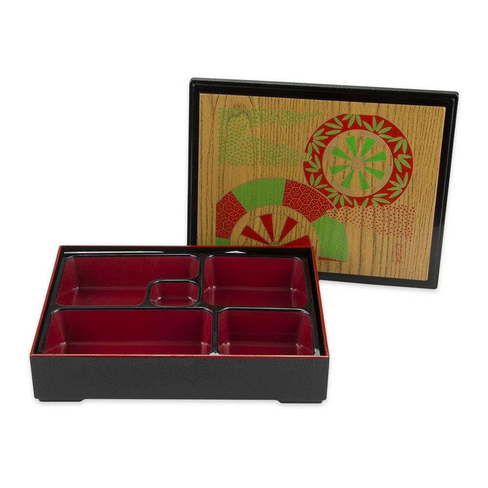 GET 00219-F Bento Box w/ (5) Compartments & Cover