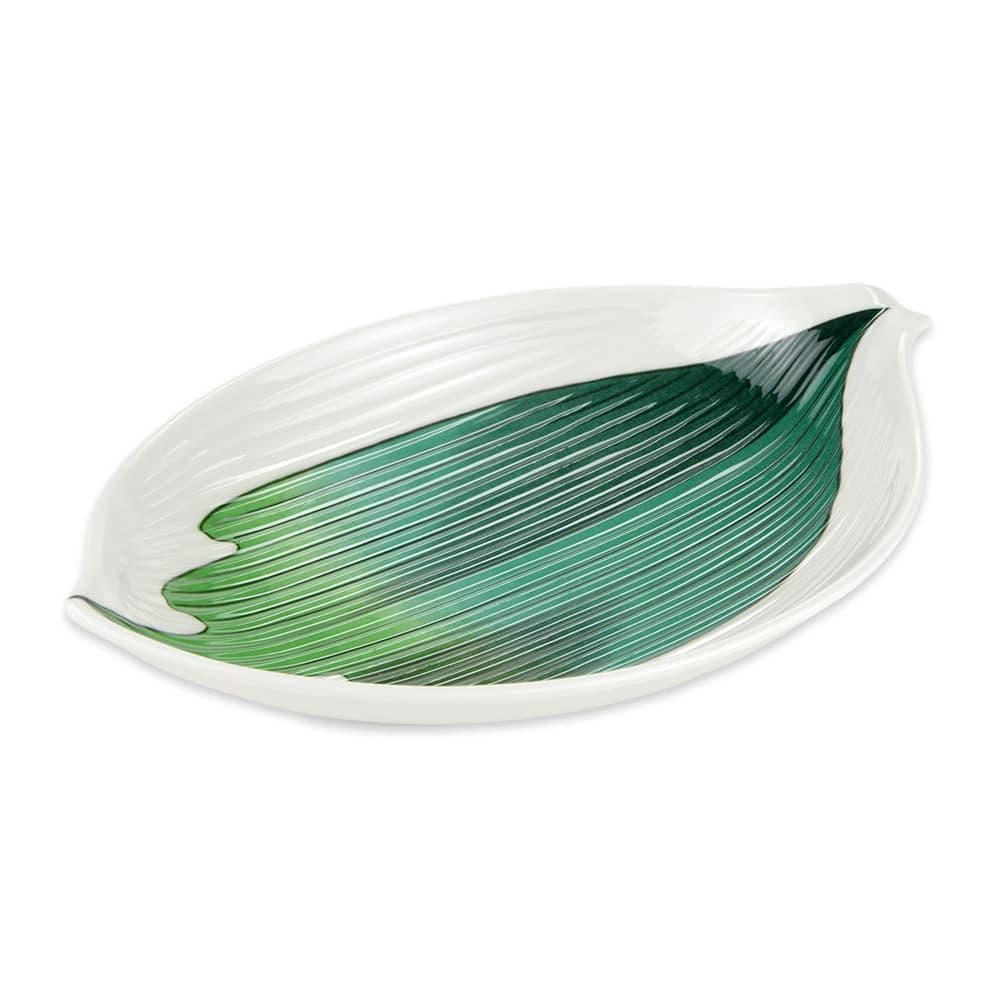 """GET 133-21-CO 8"""" Leaf Plate, Melamine"""