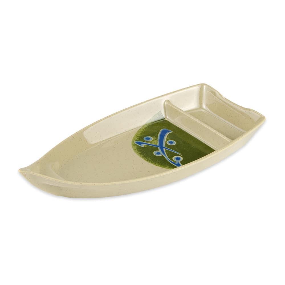 "GET 136-TD Rectangular Boat Plate w/ 10-oz Capacity, 10.5 x 4.75"", Melamine"
