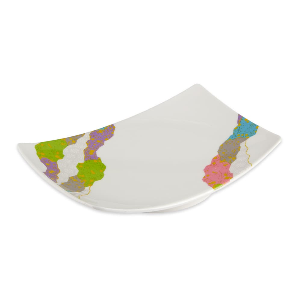 "GET 141-CO Rectangular Plate, 6.75"" x 4.5"", Melamine"