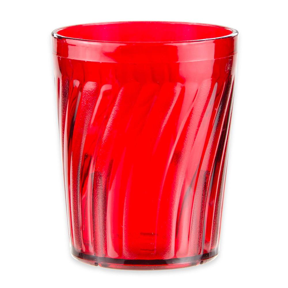 GET 2206-1-R 6-oz Juice Tumbler, Plastic, Red