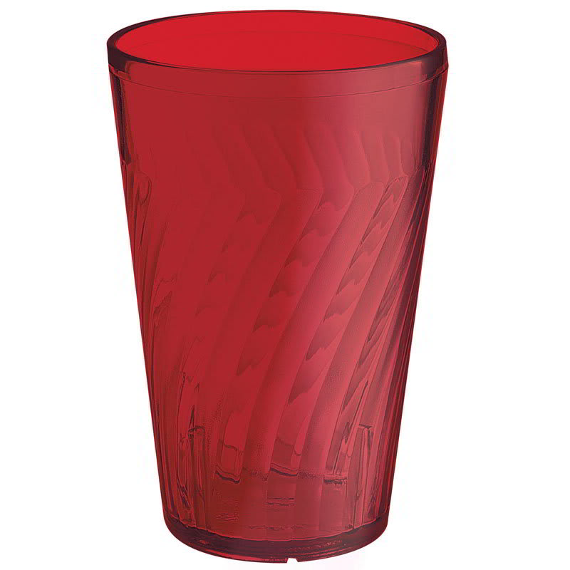 GET 2216-1-R 16-oz Tahiti Textured Beverage Plastic Tumbler, Red