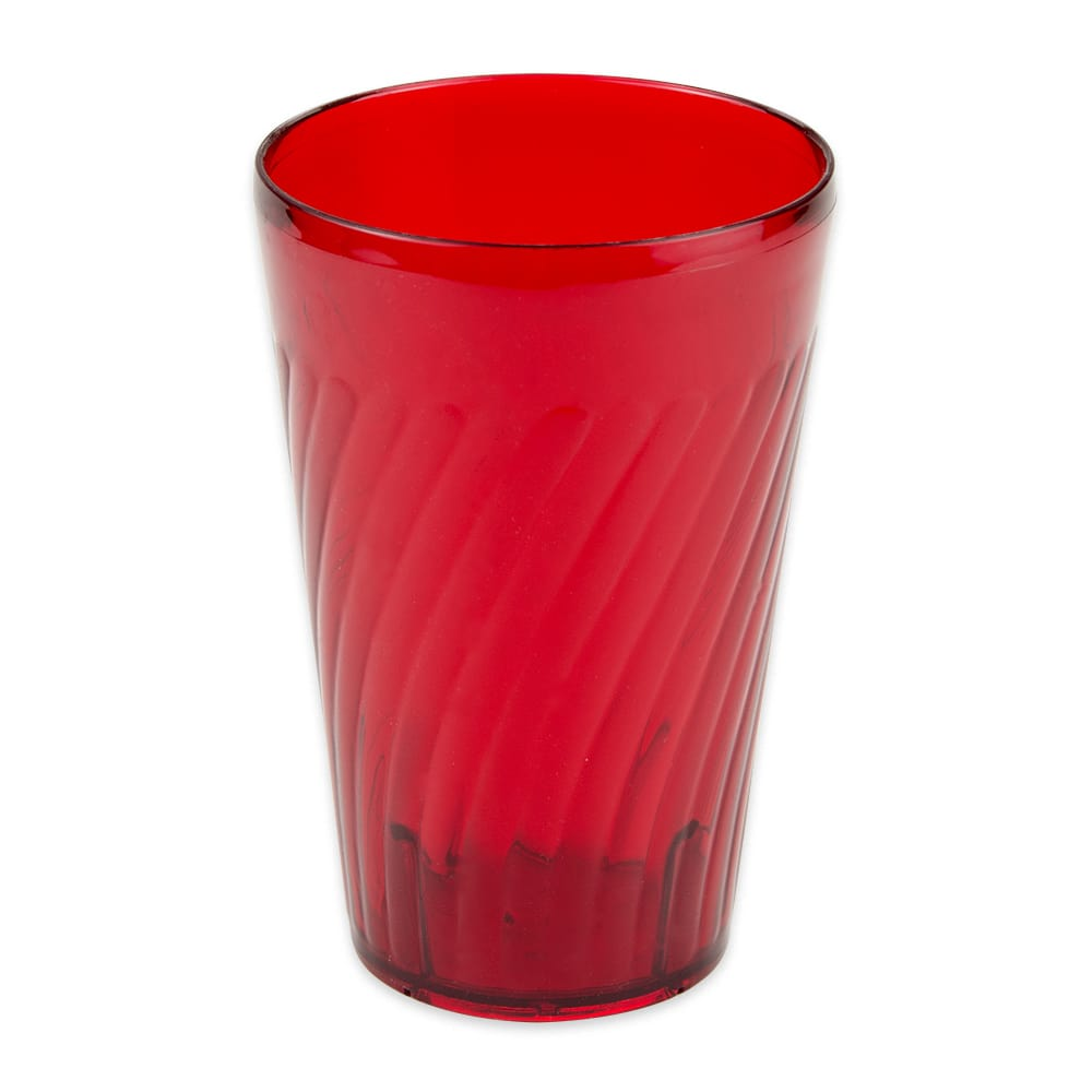 GET 2224-1-R 24-oz Beverage Tumbler, Plastic, Red