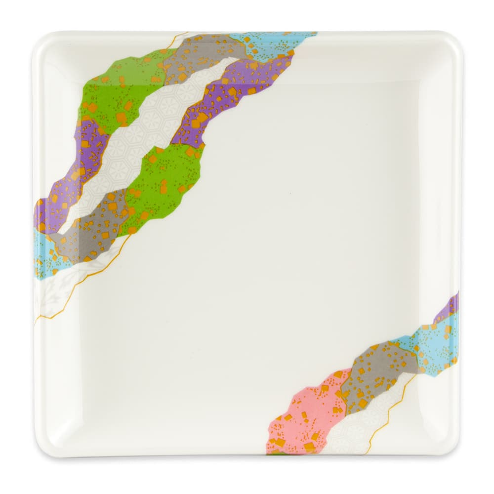 "GET 252-18-CO 7"" Square Dish, Melamine"