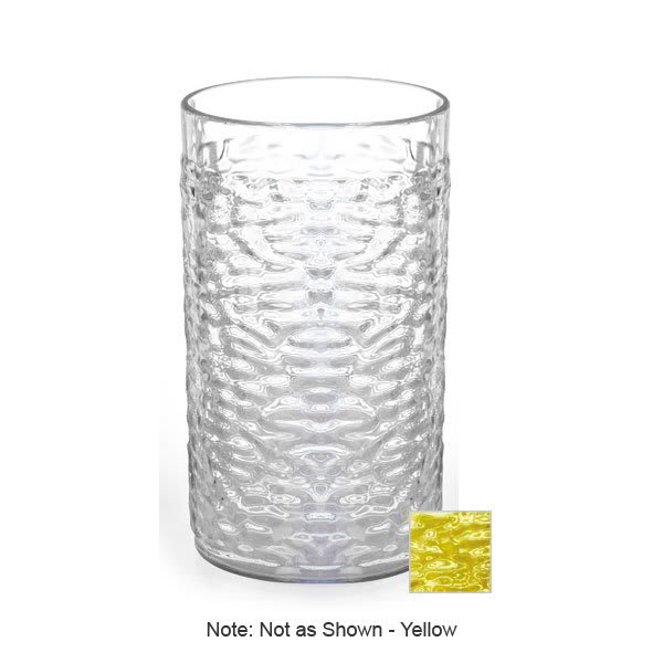 GET 3316-Y 16-oz Pebble Plastic Tumbler, Waikiki, Yellow