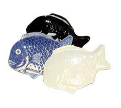 "GET 370-12-BK 12""x 8-1/4""Fish Platter, Melamine, Black"