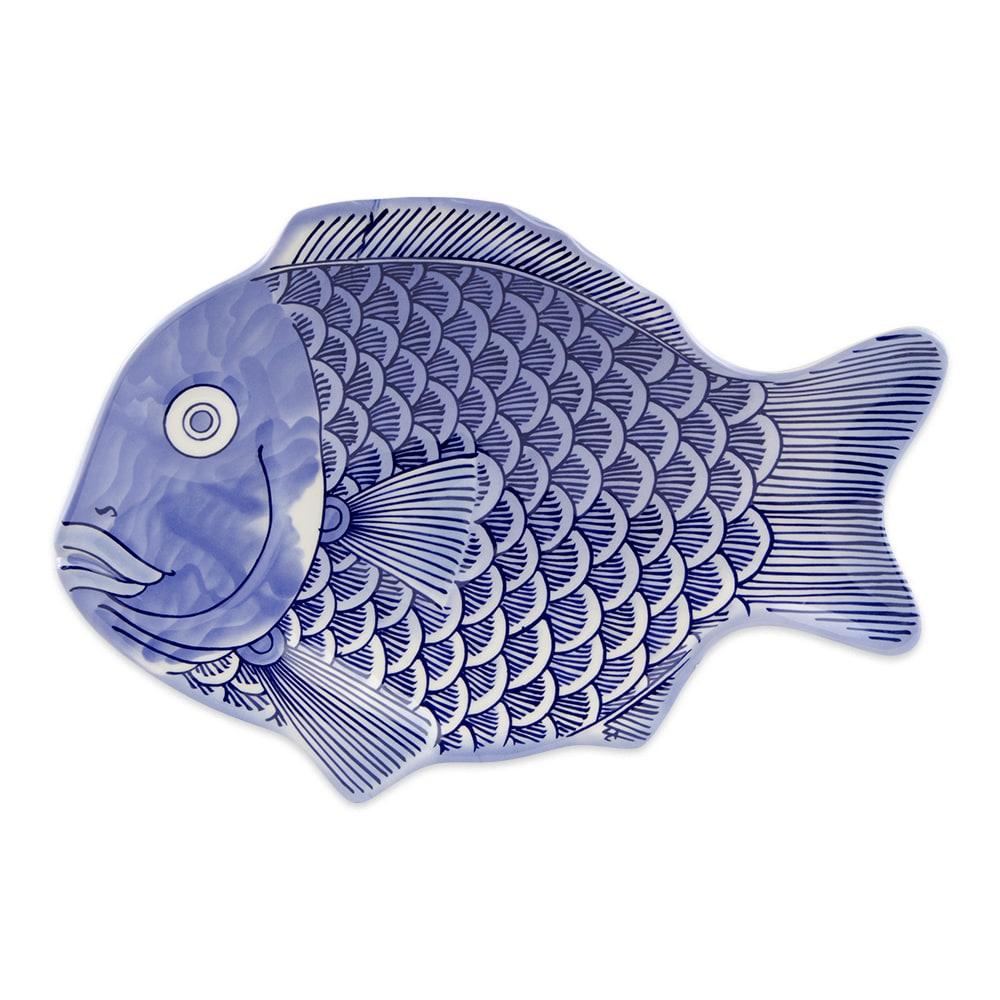"""GET 370-12-BL Fish Platter, 12"""" x 8.25"""", Melamine, Blue"""