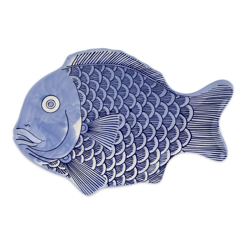 """GET 370-14-BL Fish Platter, 14"""" x 10"""", Melamine, Blue"""