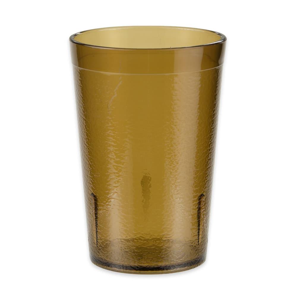 GET 6608-1-6-A 8-oz Beverage Tumbler, Plastic, Amber