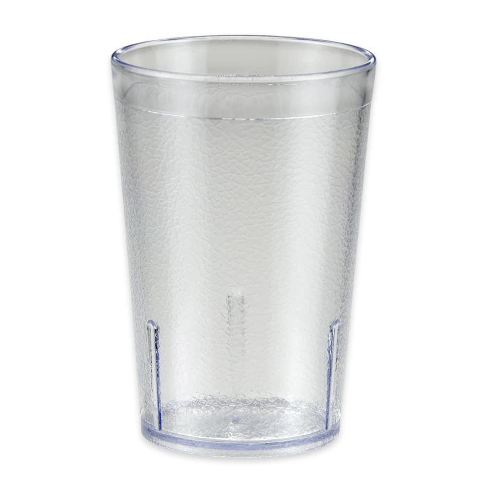 GET 6608-1-6-CL 8 oz Beverage Tumbler, Plastic, Clear