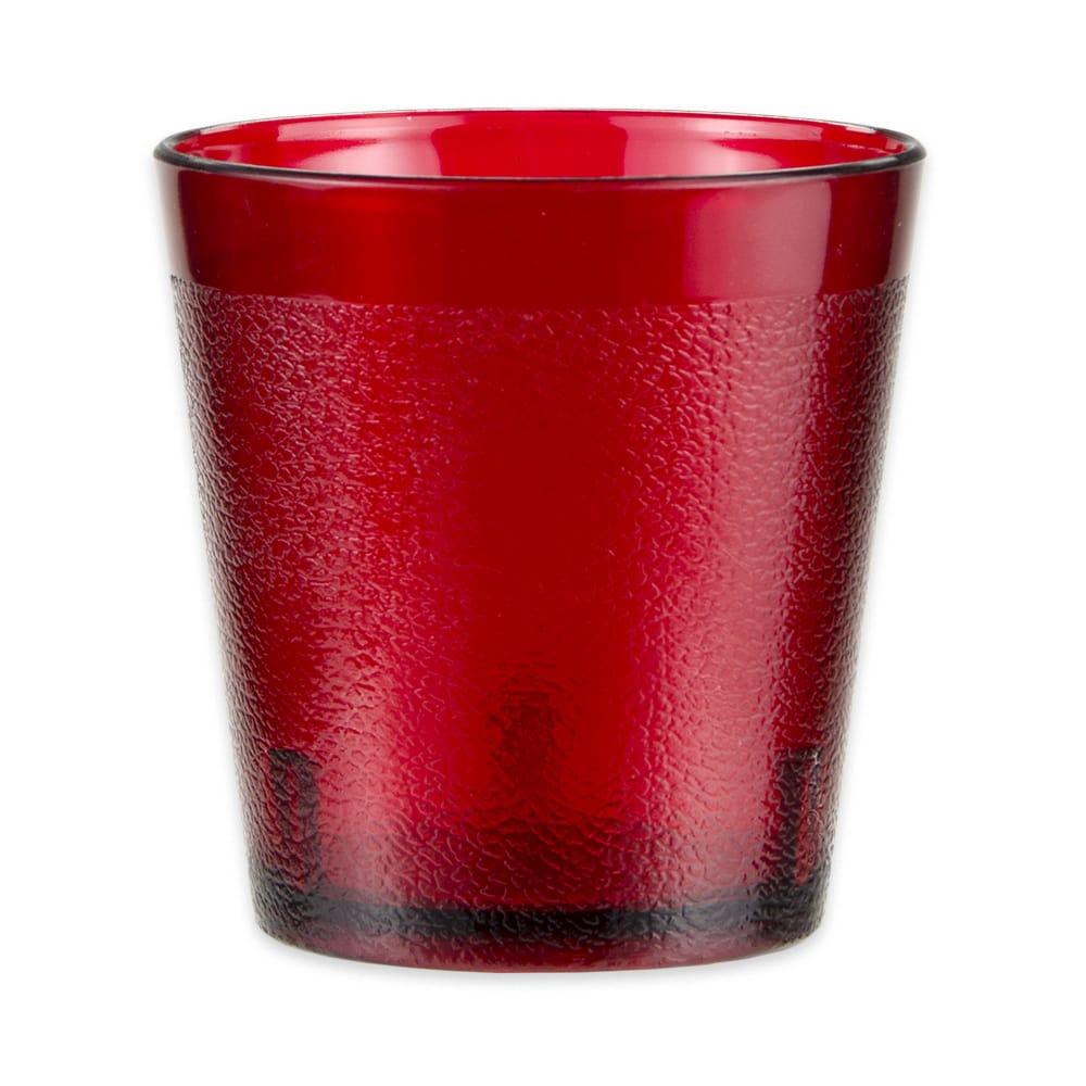 GET 6609-1-6-R 9-oz Beverage Tumbler, Plastic, Red