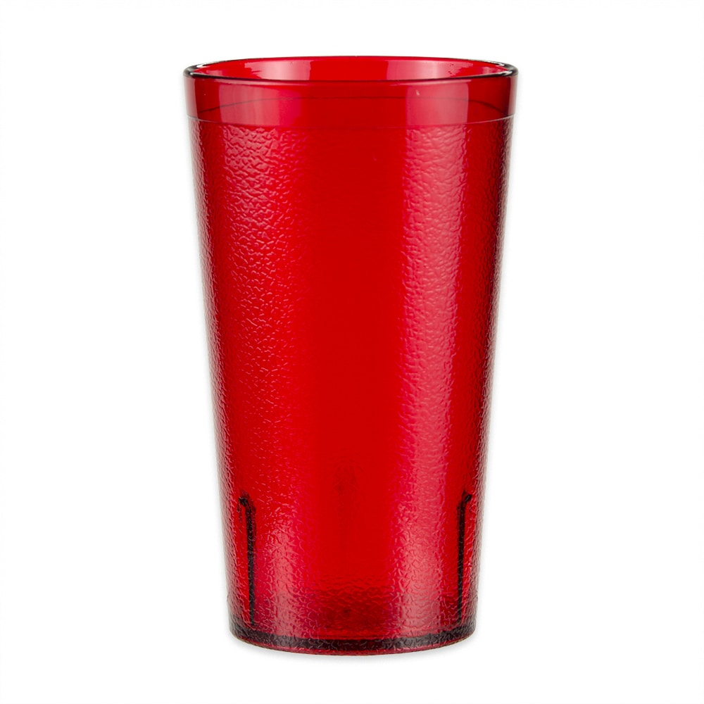 GET 6612-1-6-R 12-oz Beverage Tumbler, Plastic, Red