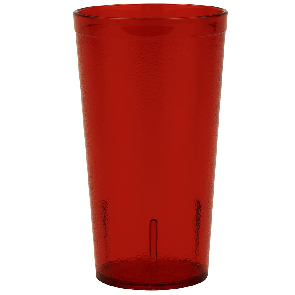 GET 6616-1-6-R 16-oz Beverage Tumbler, Plastic, Red