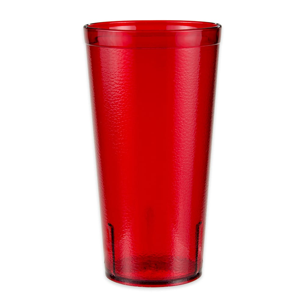 GET 6620-1-6-R 20-oz Beverage Tumbler, Plastic, Red