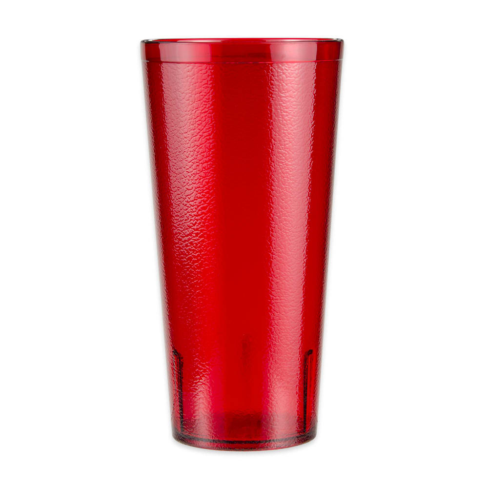 GET 6624-1-6-R 24-oz Beverage Tumbler, Plastic, Red