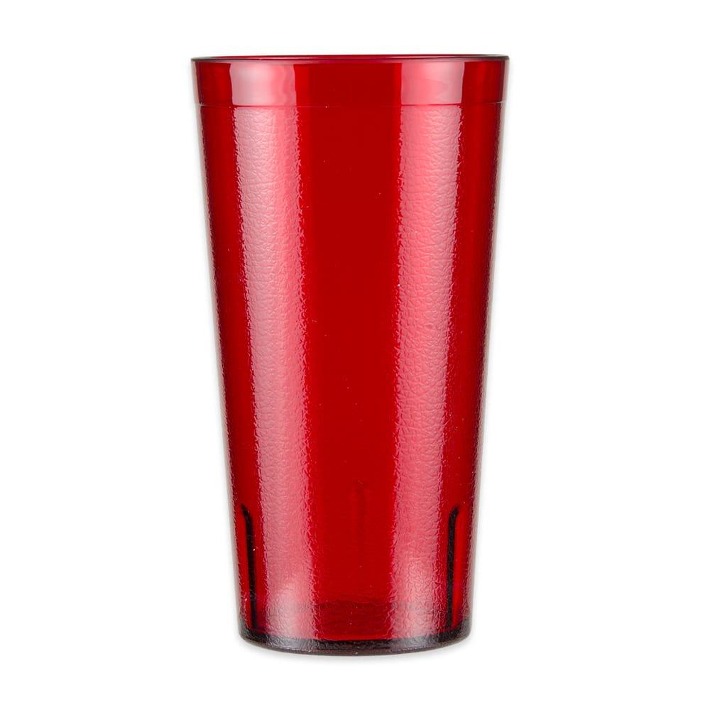 GET 6632-1-4-R 32-oz Beverage Tumbler, Plastic, Red