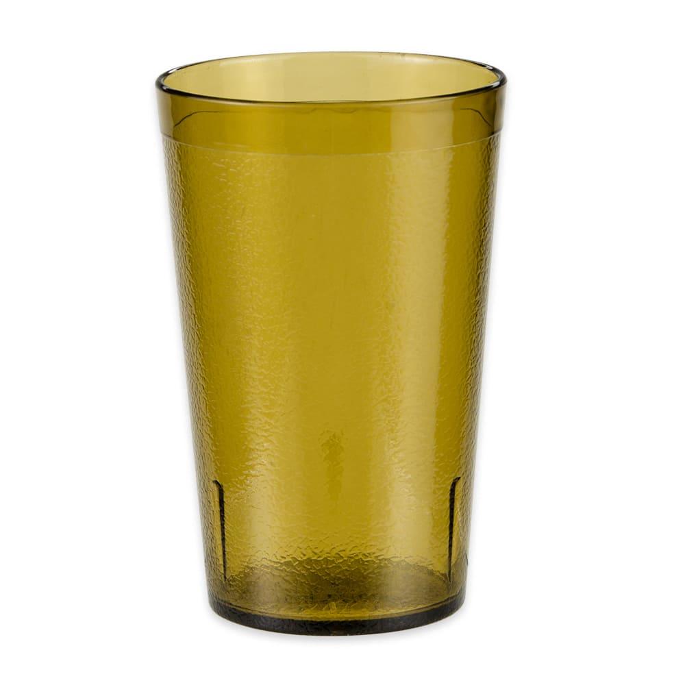 GET 6695-1-6-A 9.5 oz Beverage Tumbler, Plastic, Amber