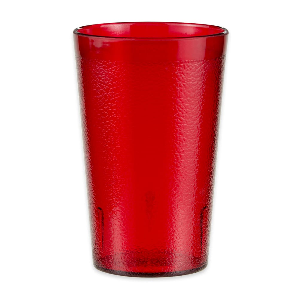 GET 6695-1-6-R 9.5-oz Beverage Tumbler, Plastic, Red