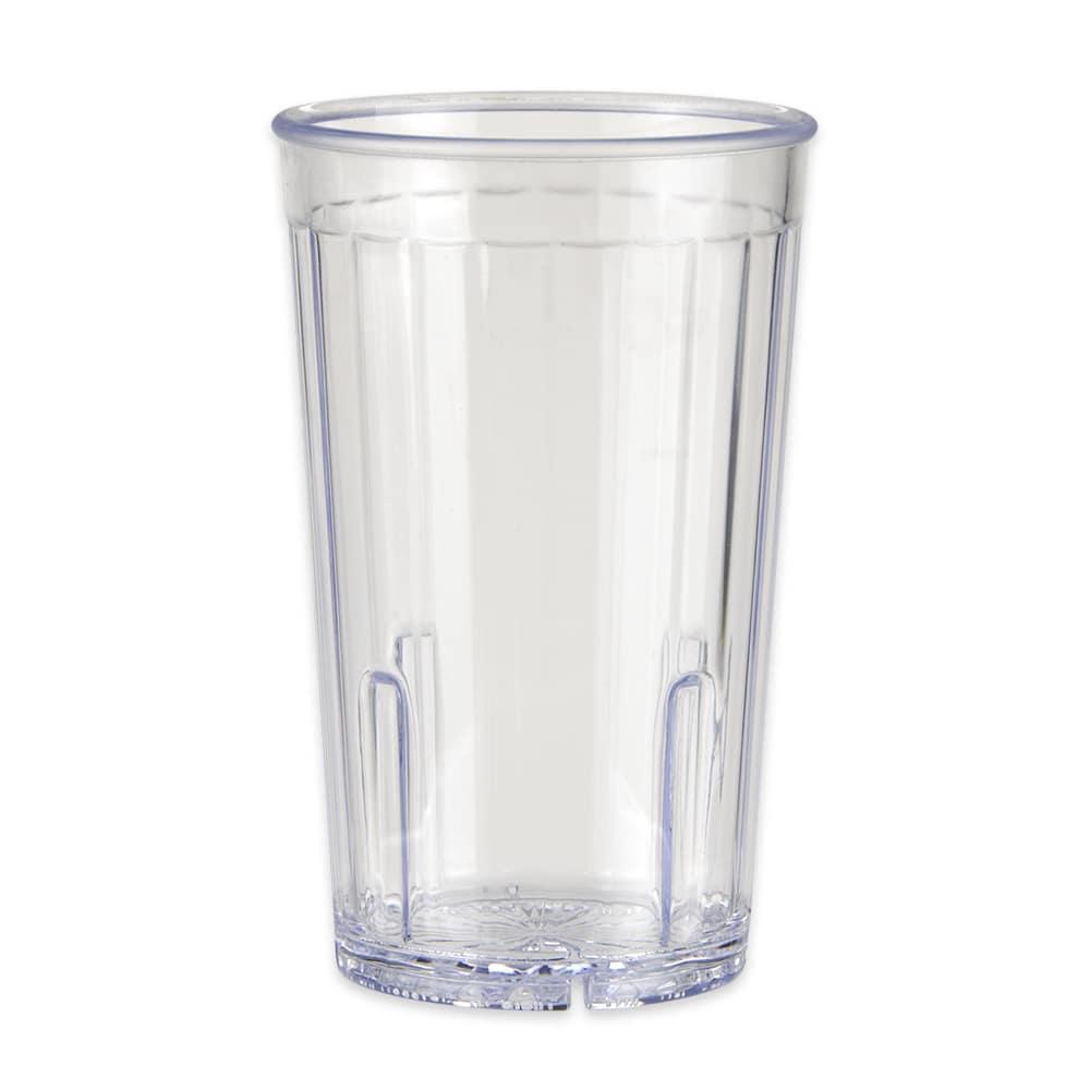 GET 8810-1-CL 10 oz Beverage Tumbler, Plastic, Clear