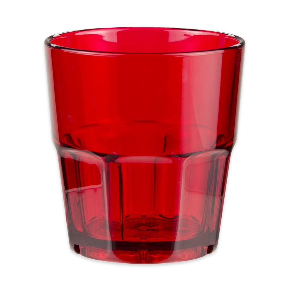 GET 9909-1-R 9-oz Rocks Tumbler, Red, Plastic