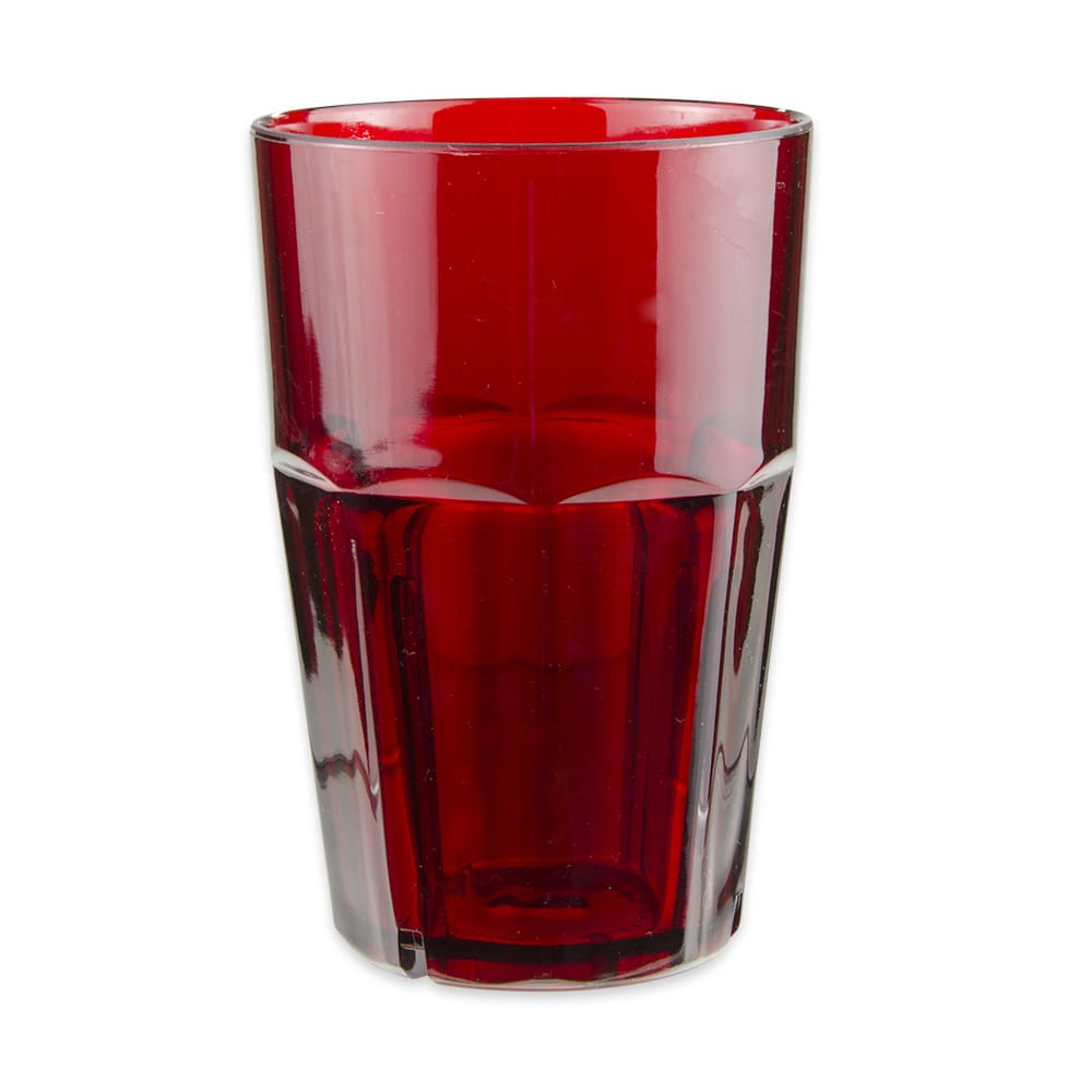GET 9910-1-R 10-oz Rocks Tumbler, Plastic, Red