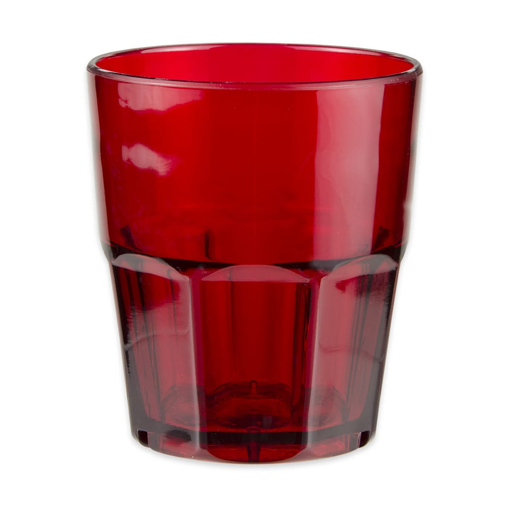 GET 9912-1-R 12-oz Rocks Tumbler, Plastic, Red