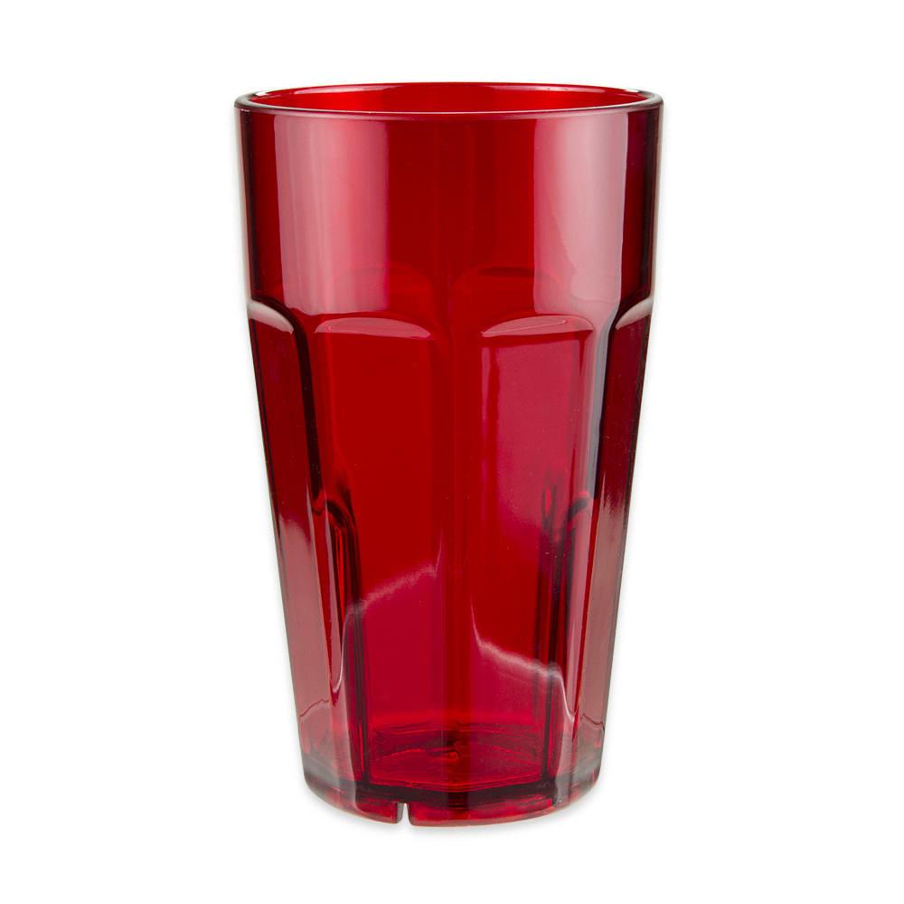 GET 9920-1-R 20-oz Beverage Tumbler, Plastic, Red