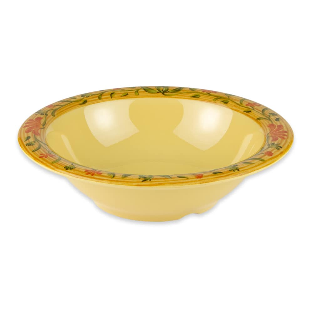 "GET B-127-VN 7.25"" Round Salad Soup Bowl w/ 12-oz Capacity, Melamine, Yellow"
