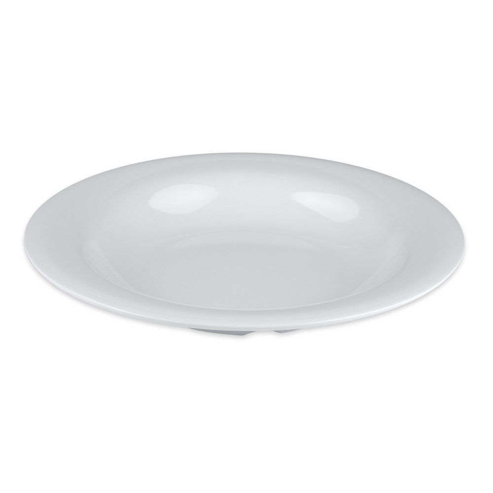 "GET B-139-DW 9.25"" Round Pasta Bowl w/ 13 oz Capacity, Melamine, White"