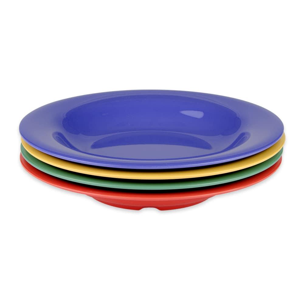 "GET B-139-MIX (4) 9.25"" Round Pasta Bowl w/ 13-oz Capacity, Melamine, Multi-Colored"