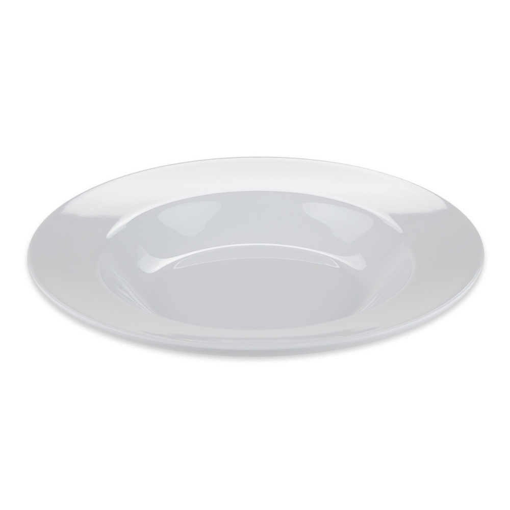 "GET B-1611-DW 11.25"" Round Pasta Bowl w/ 16 oz Capacity, Melamine, White"