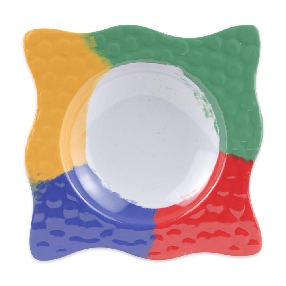 "GET B-1612-CE 7"" Square Salad Bowl w/ 6-oz Capacity, Melamine, Multi-Colored"