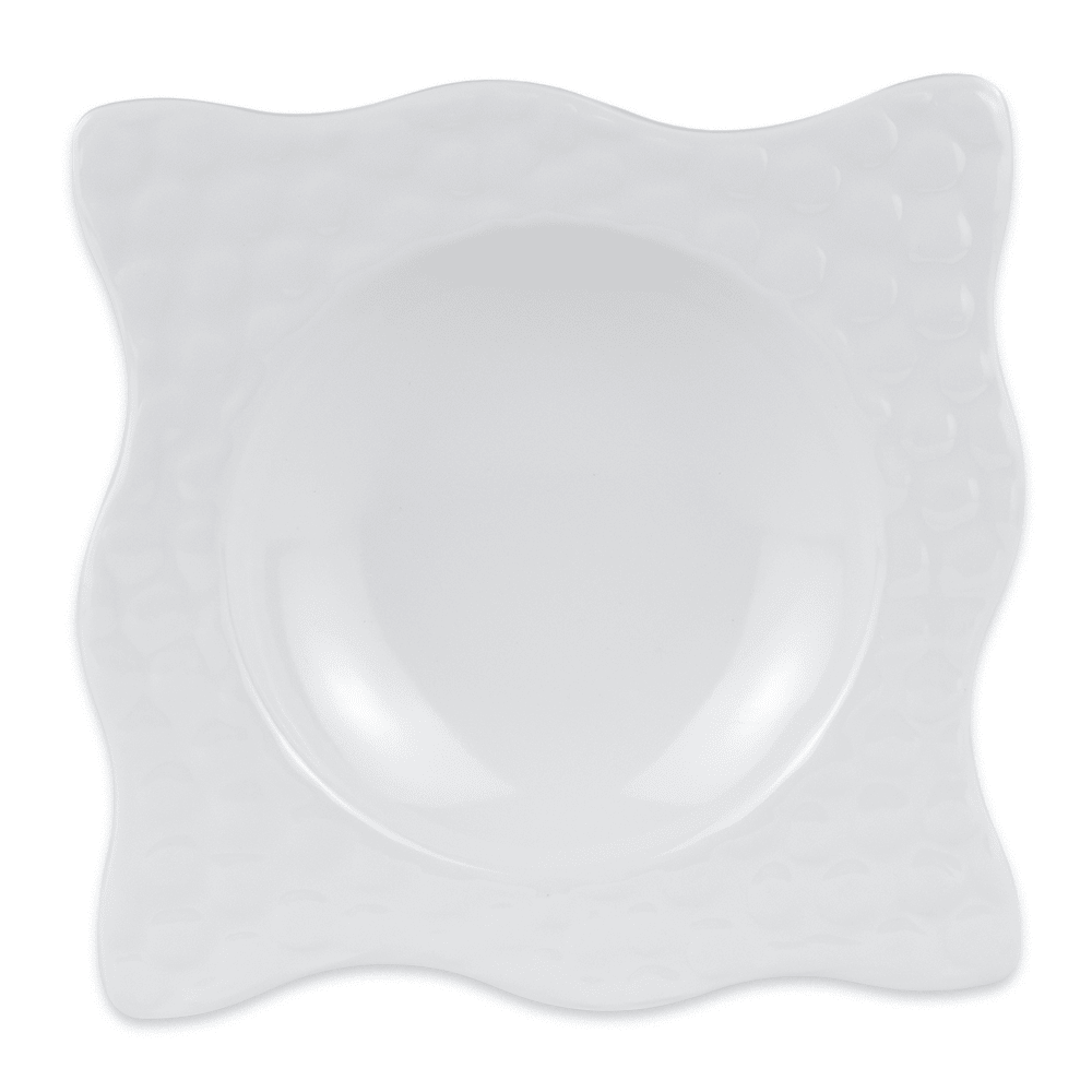 "GET B-1612-W 7"" Square Salad Bowl w/ 6-oz Capacity, Melamine, White"