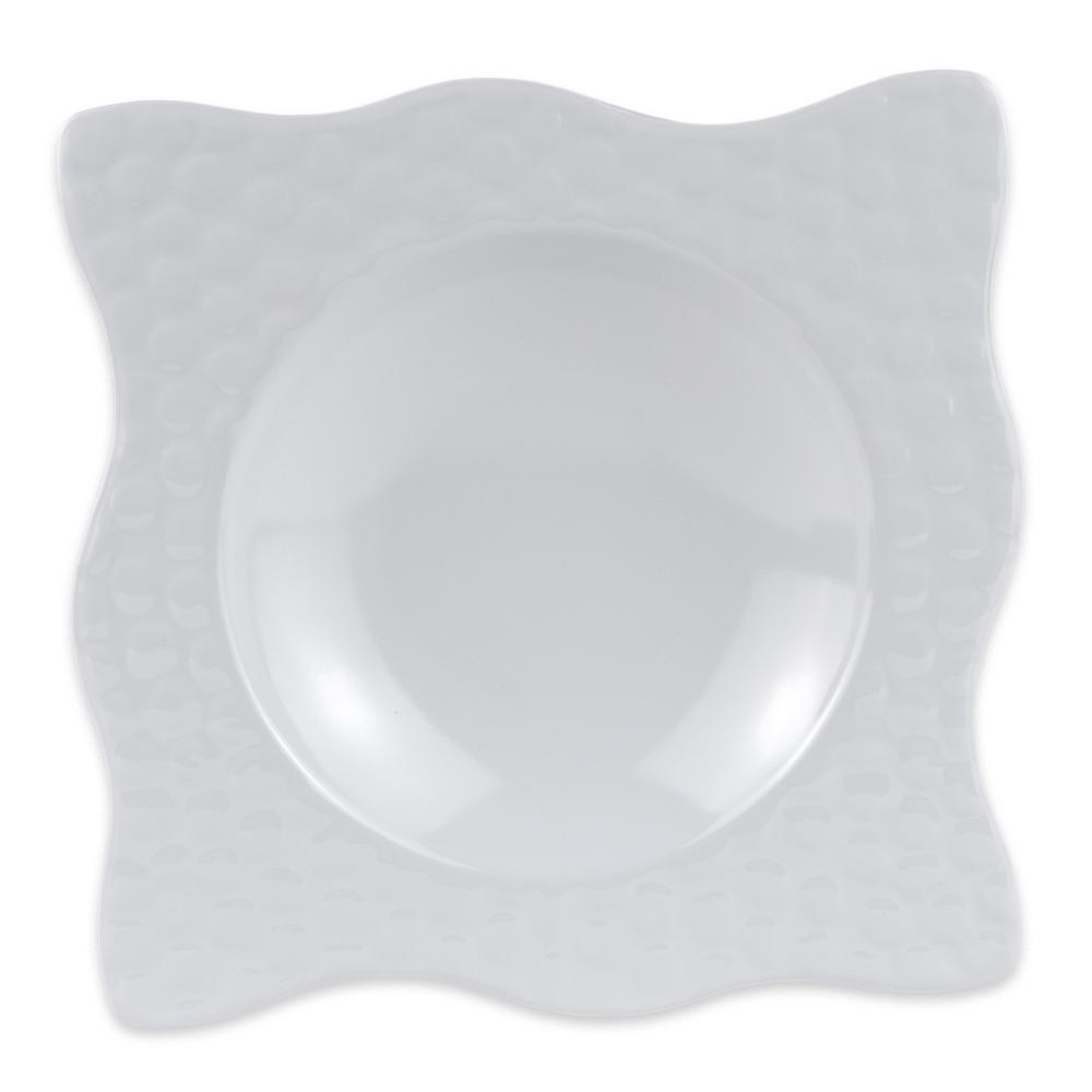 "GET B-1613-W 9"" Square Soup Bowl w/ 12-oz Capacity, Melamine, White"