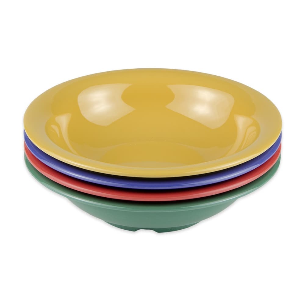 "GET B-167-MIX (4) 7.5"" Round Cereal Bowl w/ 16-oz Capacity, Melamine, Mutli-Colored"