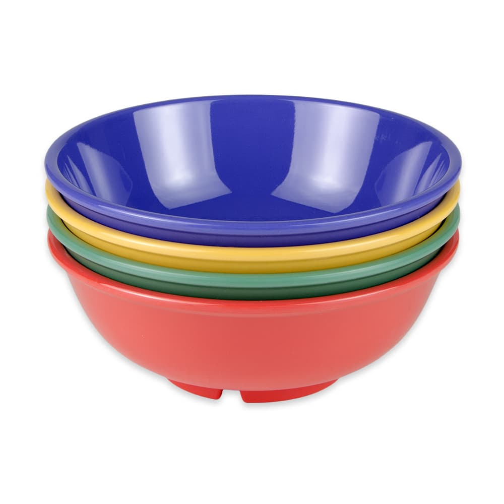 "GET B-24-MIX (4) 7.5"" Round Pasta Bowl w/ 24-oz Capacity, Melamine, Multi-Colored"