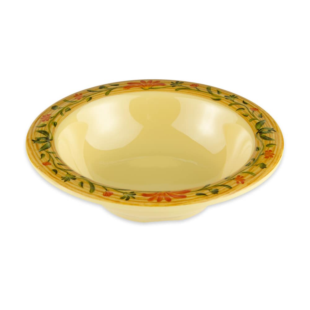 "GET B-454-VN 4.75"" Round Cereal Bowl w/ 4.5 oz Capacity, Melamine, Yellow"
