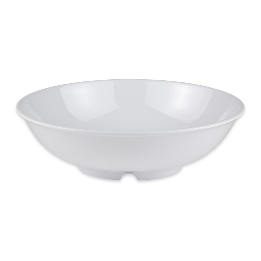 "GET B-48-DW 9.75"" Round Pasta Bowl w/ 1.9 qt Capacity, Melamine, White"