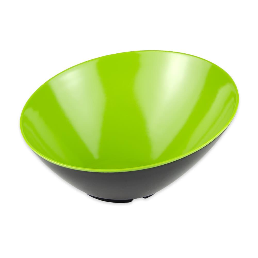"GET B-789-G/BK 10"" Round Pasta Bowl w/ 1.1-qt Capacity, Melamine, Green/Black"