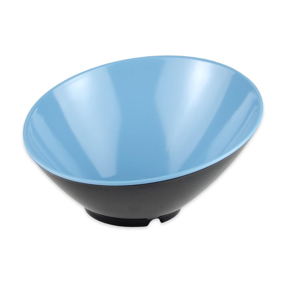 "GET B-792-BL/BK 9.25"" Round Pasta Bowl w/ 24-oz Capacity, Melamine, Blue/Black"