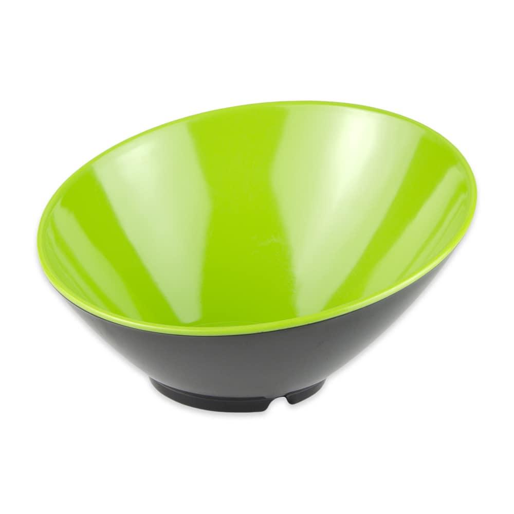 "GET B-792-G/BK 9.25"" Round Pasta Bowl w/ 24-oz Capacity, Melamine, Green/Black"