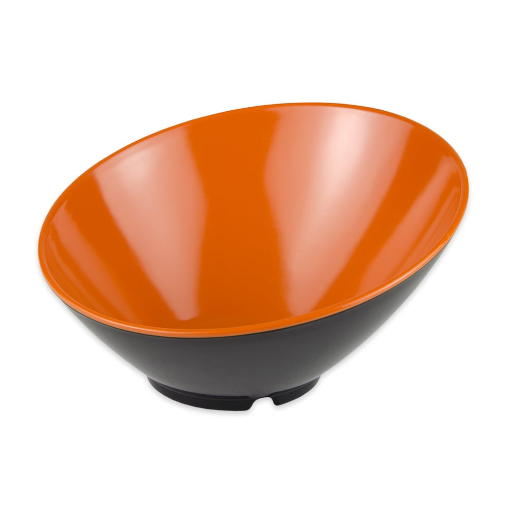"GET B-792-OR/BK 9.25"" Round Pasta Bowl w/ 24-oz Capacity, Melamine, Orange/Black"