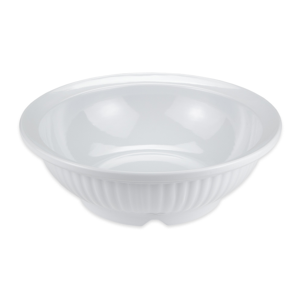 "GET B-796-W 15"" Round Serving Bowl w/ 6 qt Capacity, Melamine, White"