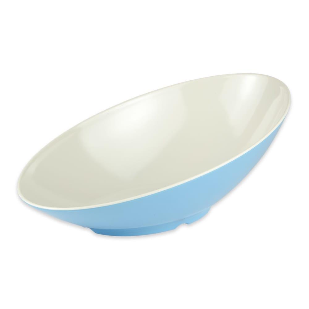 "GET B-797-SE Oval Fruit Bowl w/ 1.1-qt Capacity, 14"" x 8.75"" x 5"", Melamine, Blue"