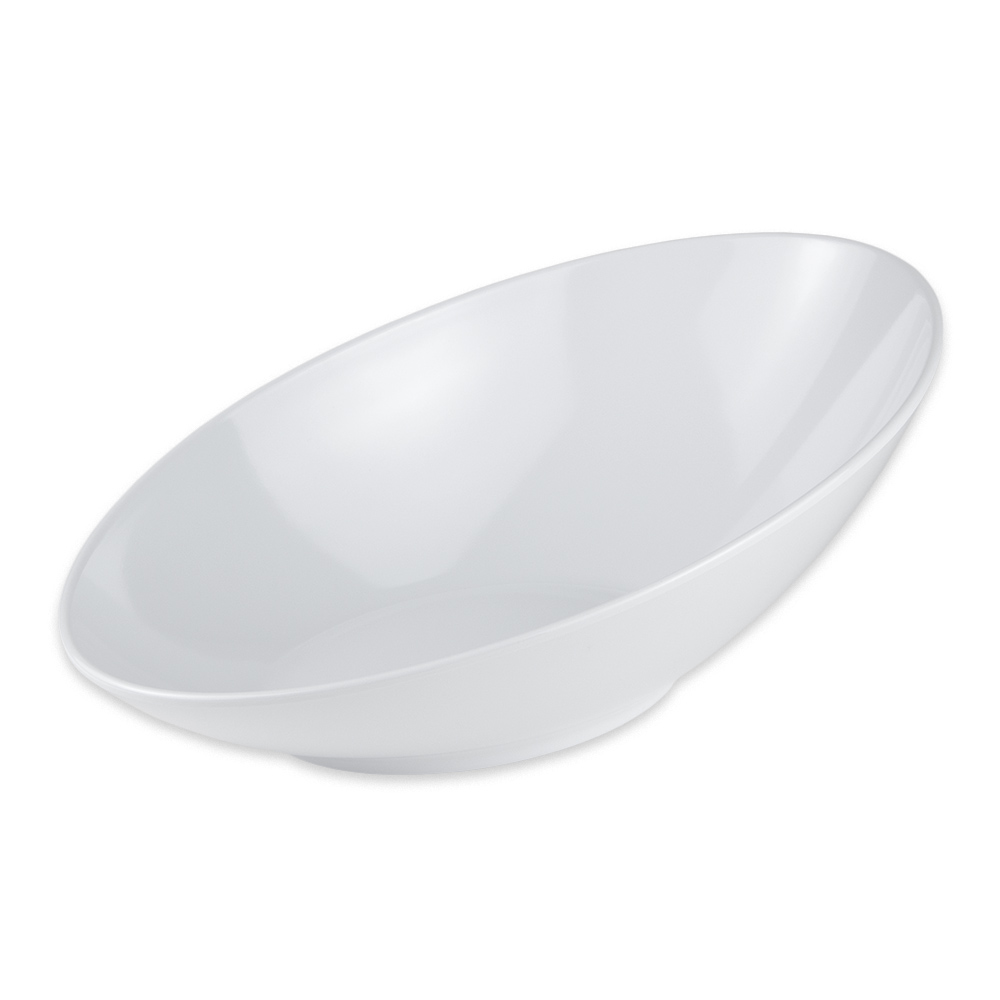 "GET B-797-W Oval Fruit Bowl w/ 1.1 qt Capacity, 14"" x 8.75"" x 5"", Melamine, White"